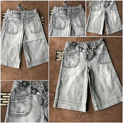 girls next cropped jeans grey age 9 100% cotton used