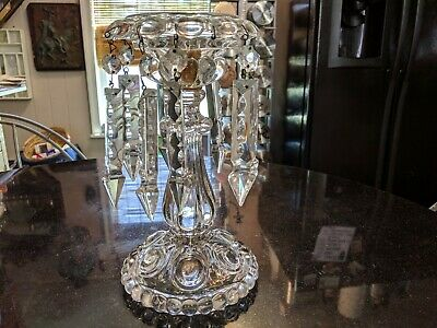 Awesome Antique Glass Candle Stick