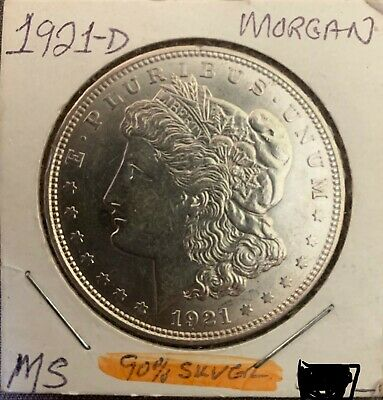 1921-D Denver Mint Silver Morgan Dollar