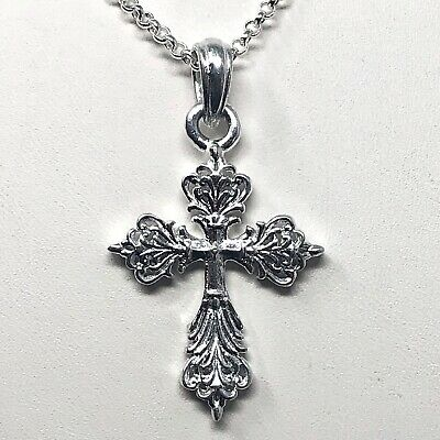 Arthur Court Necklace Aluminium Scroll Cross Small 2in Jewelry 18 to 20in Chain