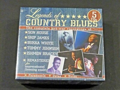 Legends Of Country Blues 5Cd Box Set - New