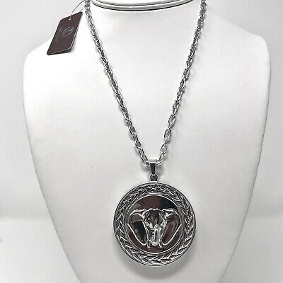 Arthur Court Necklace Aluminium Elephant 2.5in Jewelry 18in Chain New With Tag