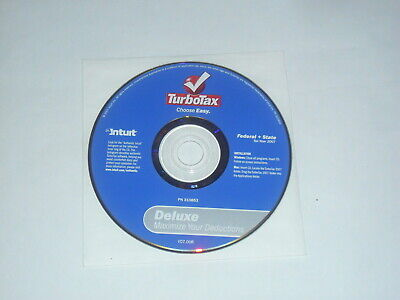 Intuit TurboTax 2007 Deluxe Federal & State Tax Software, Apple Mac OS & Windows