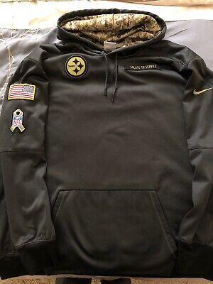 7d7518d03 Pittsburgh Steelers Nike Therma Fit 2016 Salute To Service Sweatshirt Size  3XL