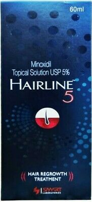 Hairline Minoxidil 5% Tropical Solution for Hair Regrowth 60 ml - 1 Month Supply