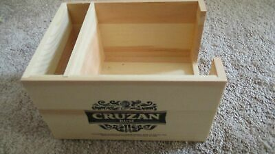 Cruzan Rum Wooden Condiment/ Napkin & Straw Caddy - New
