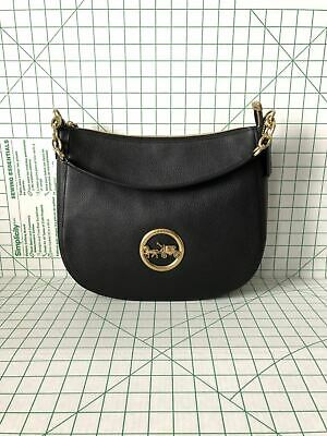 7f547a5d39 NWT COACH F31400 Elle Hobo Pebbled Leather Hobo Shoulder Tote Crossbody in  Black