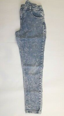Girls skinny Acid wash Jeans age 10 Miss Evie trousers clothing (B393)