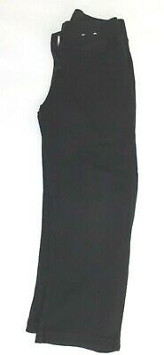 Girls black comfy jogging bottoms trousers age 5 - 6 years (B525)