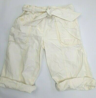 NEXT lemon crop summer trousers girls age 8 yrs clothing 100% cotton (B506)