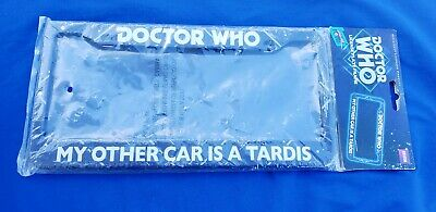 BBC Licensed Doctor Who MY OTHER CAR IS A TARDIS License Plate Frame New