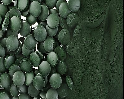 ORGANICALLY PRODUCED CHLORELLA TABLETS  ( 500mg ) Broken Cell Wall Cracked