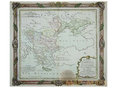 East Europe antique map Turque Europeenne Desnos 1766