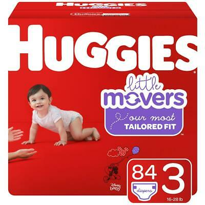 HUGGIES Little Movers Disposable Diapers Size 3 (16-28lbs) *Free 2 day shipping