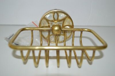 Art Deco Mid Century Style Gold Soap Holder Soap Dish Wall Mount