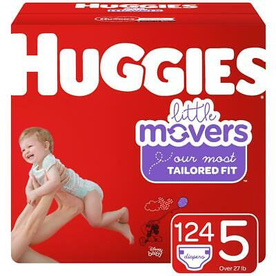 HUGGIES Little Movers Disposable Diapers Size 5 (27+lbs) *Free 2 day shipping