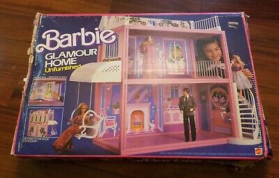 Very Rare 1984 Barbie Doll Glamour Home Mattel Dream House Box & Instuctions