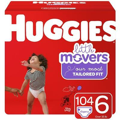 HUGGIES Little Movers Disposable Diapers Size 6 (35+lbs) *Free 2 day shipping