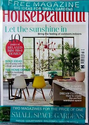 House Beautiful Magazine May 2019 With Free Big Ideas For Small Gardens Mag