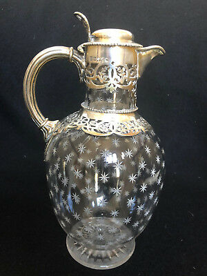 Antique English Sterling Silver and Crystal Decanter