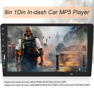 "Din 9"" Single Car FM/USB/AUX Bluetooth MP5 Player Touch Screen Stereo Radio Hot"