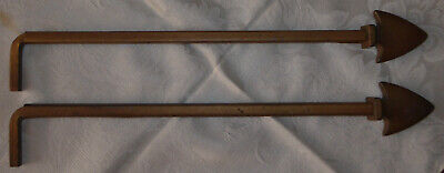 Vintage Pair of Art Deco Style Swing Arm Curtain / Drapery Rods – Arrow Accent