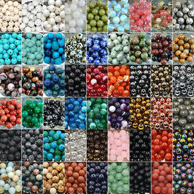 Wholesale Natural Gemstone Loose Beads 4mm 6mm 8mm 10mm DIY Jewelry Making