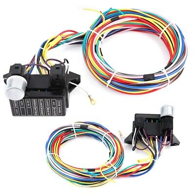 12 CIRCUIT UNIVERSAL Wiring Harness Muscle Car Hot Rod Street Rod XL on universal painless wiring harness, universal hot rod motor mounts, universal gm wiring harness, universal wiring harness diagram, universal hot water heaters for cars, universal wiring harness kit, universal hot rod mirrors,