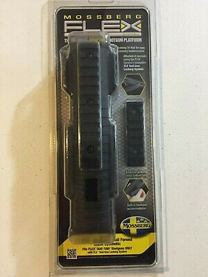 BLACK MOSSBERG 500 Shotgun Tri Rail Forend Pump & Slide weaponlight