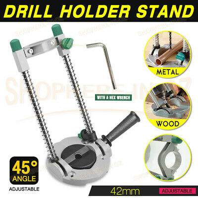 Drill Guide Electric Drill Press Stand 45° Adjustable Mobile Swivel Working Tool