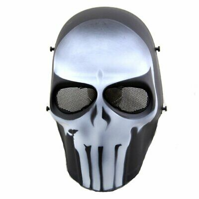 Airsoft Mask Full Face Paintball Hockey BB Protective Mesh Mask Punisher