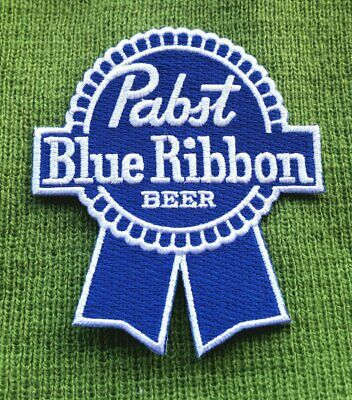 "Iron-On""Pabst Blue  Beer Iron Jacket Tshirt Cap Hat Hoodie Patch On Embroidered"