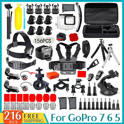 Accessories Pack Head Chest Monopod Mount housing  case for GoPro HD Hero 7 6 5