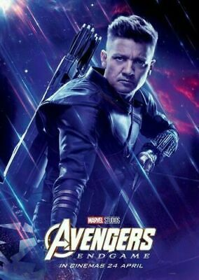 Avengers Endgame Hawkeye Marvel Character Movie 12x18 24x36 Art Poster 013