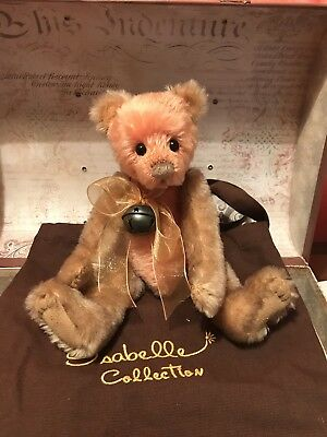 Rare Mohair Charlie bears Isabelle Lee  Pomegranate 2010 UK Exclusive