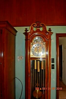 Herschede Grandfather Clock 9 Tube Model 250 Tubular THE CLOCK