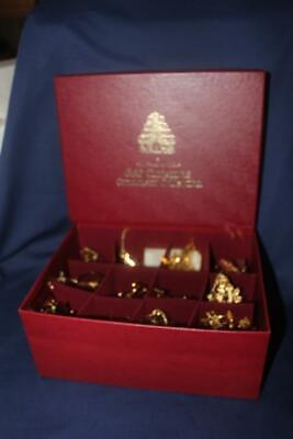 Danbury Mint Set Of 12 Gold 23Kt Plated Christmas Ornaments 1980'S And 1990'S