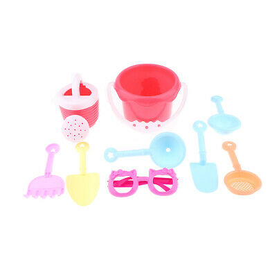 Summer Sand Box Toys Set with Bucket Watering Can Rake for Kids, BPA Free