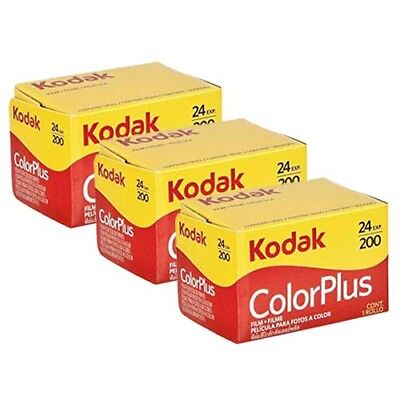 3x  Kodak Colorplus 200 35mm 24Exp -  CHEAP Colour Print Film