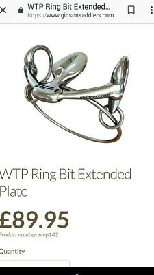 """Winning Tongue Plate WTP Eggbutt Correction Bit with Extended Plate 4.5/"""" 5/"""""""