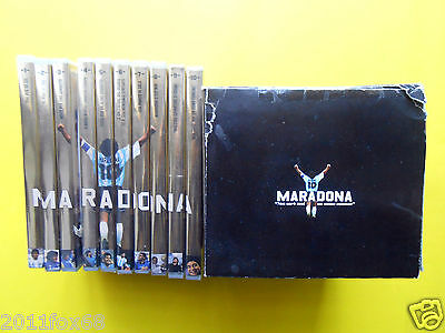 diego armando maradona football calcio pallone box 10dvd complete collection new