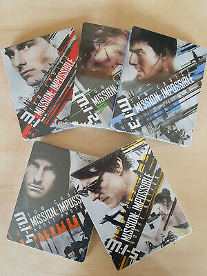 MISSION IMPOSSIBLE - Lot des films 1 à 5 /Blu-Ray Steelbook Neuf sous blister-VF