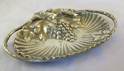 A Fine Art Nouveau Brass Grape Tray / Dish - late 19th Century