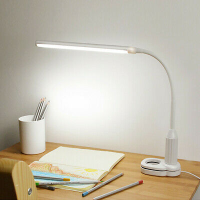 LED Clip Desk ReadiLight USB Rechargeable Switch Table Lamp Bedside Book Light