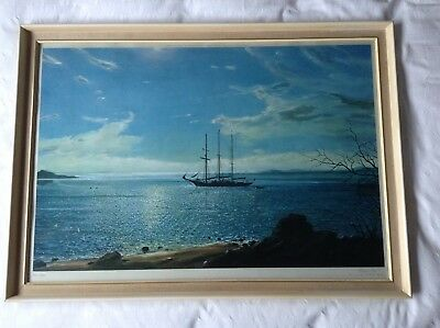 "Victor Elford Print. ""Distant Isles"" - The Training Ship ""Sir Winston Churchill"""