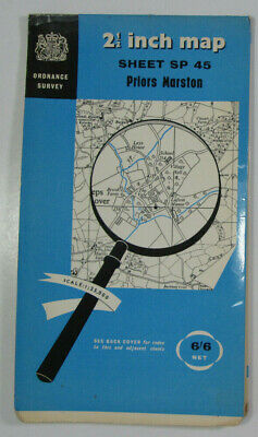 1957 Old OS Ordnance Survey 1:25000 First Series Map SP 45 Priors Marston