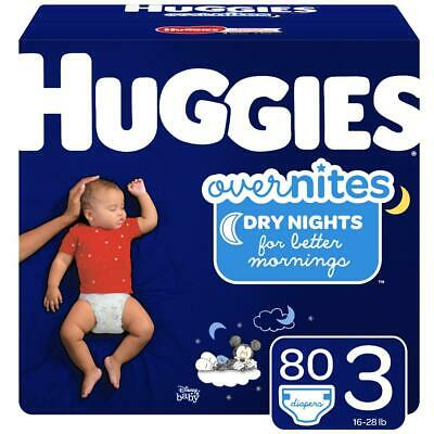 HUGGIES OverNites Disposable Diapers Size 3, 4 & 5 *Free 2 day ship *overnight
