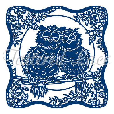 Tattered Lace Love Is All Around Owls Cutting Die TLD0557
