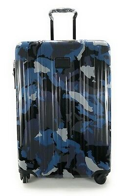 Tumi V3 Expandable Short Trip Suitcase Blue Camo Spinner Luggage 228264BCM