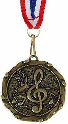 Pack of 50 Personalised Music Medals & Ribbons ENGRAVED FREE (G)